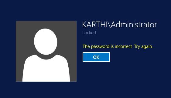 Forgot your Domain Admin Password in Windows 2012 server