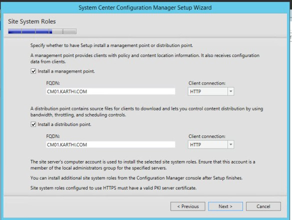 LAB 3 – Installation of SCCM 2012 SP2 in the Cloud