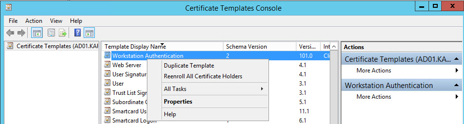 Part 4 setup ca server and deploy pkipublic key infrastructure make sure the below entries are made in the certificate template yadclub Choice Image