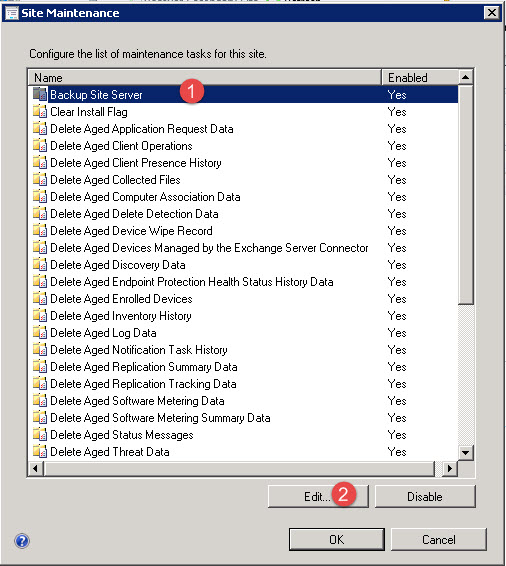 Configure Email Notification for SCCM 2012 Backup Status